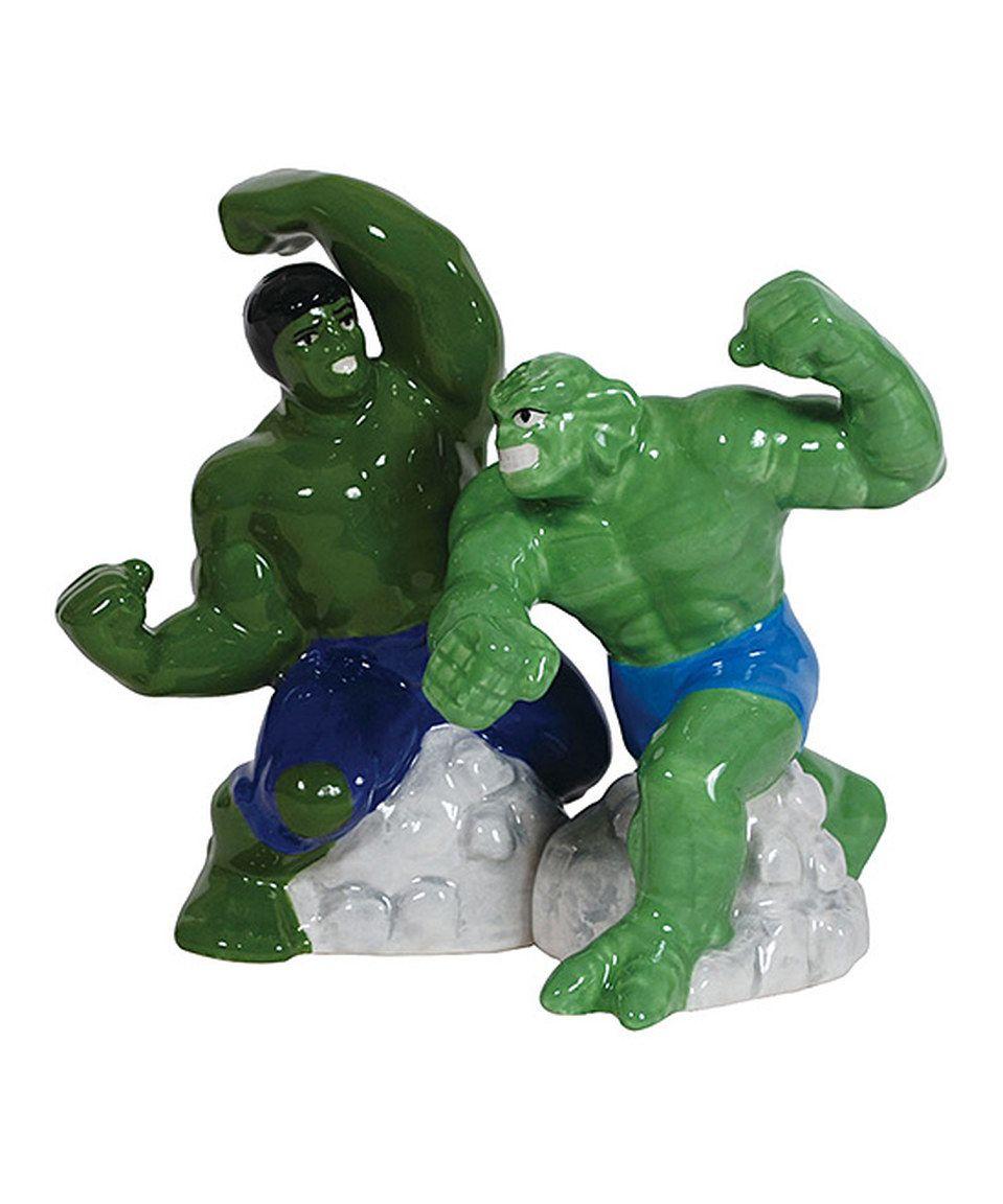 Look at this #zulilyfind! Hulk vs. Abomination Salt & Pepper Shakers by Westland Giftware #zulilyfinds