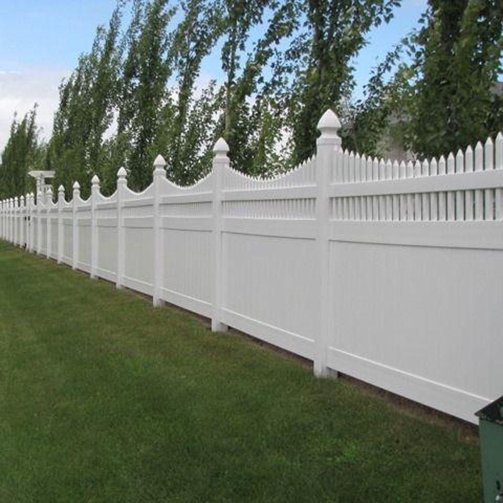 Weatherables Halifax 6 Ft H X 8 Ft W White Vinyl Privacy Fence Panel Kit Pwpr Ots 6x8 The Home Depot Vinyl Privacy Fence Privacy Fence Designs Fence Design