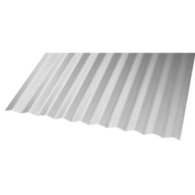 Deckdrain 10 Ft Pvc Roof Panel In Opaque White 10 Pack 1301t The Home Depot Pvc Roofing Corrugated Metal Roof Roof Panels