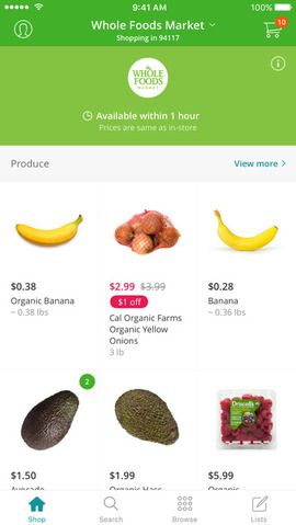 Instacart deliveries your groceries from local stores in