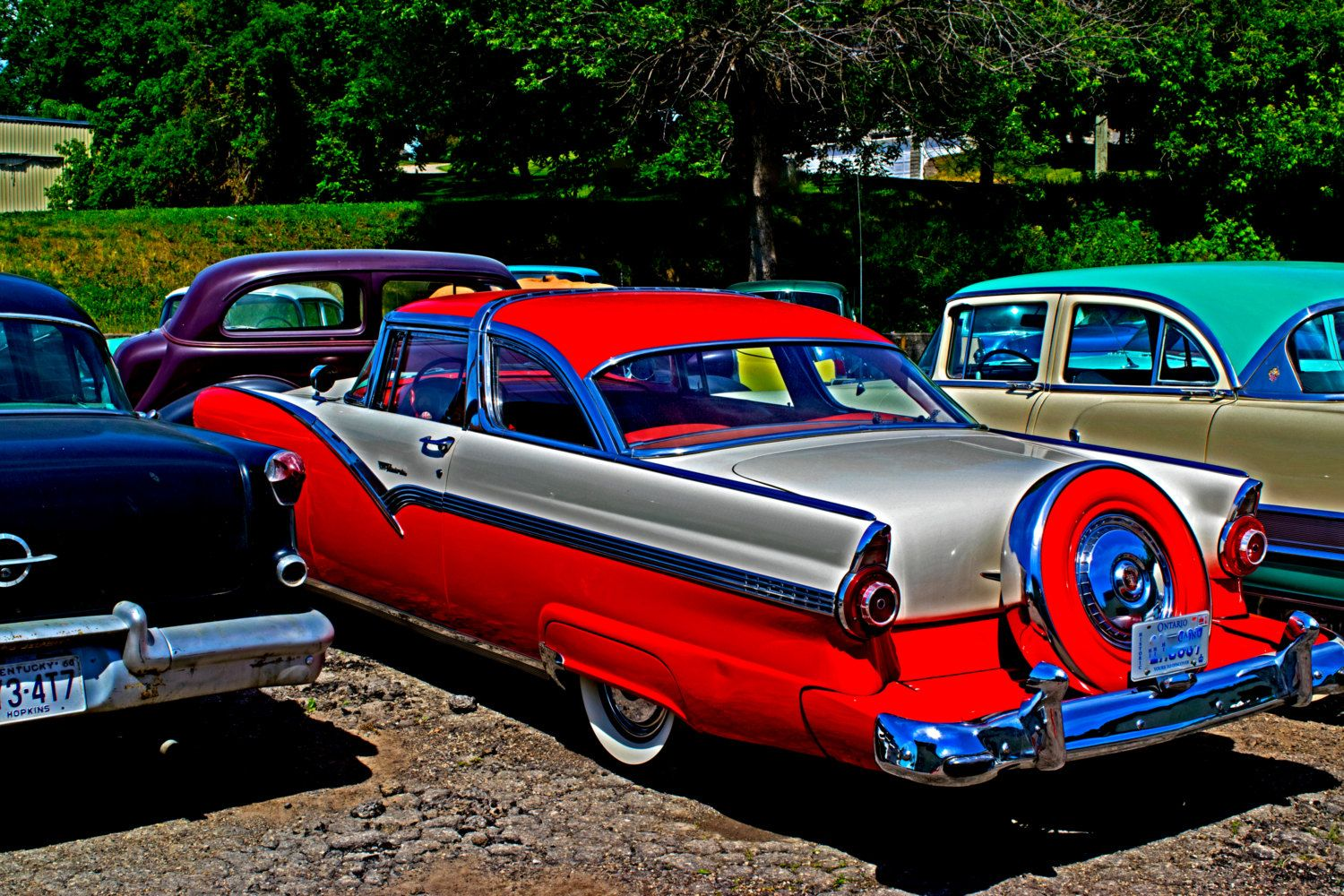 American Car Photography Download 1950s Automobile Printable Old