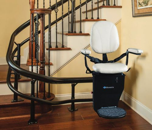 Curved staircase stairlift / folding / armchair type CSL500 Harmar