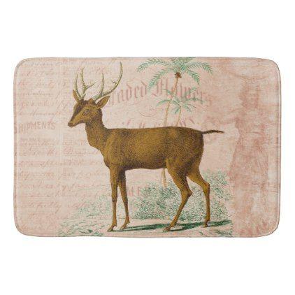 Vintage Philippine Deer Bath Mat | Zazzle.com | Vintage ...