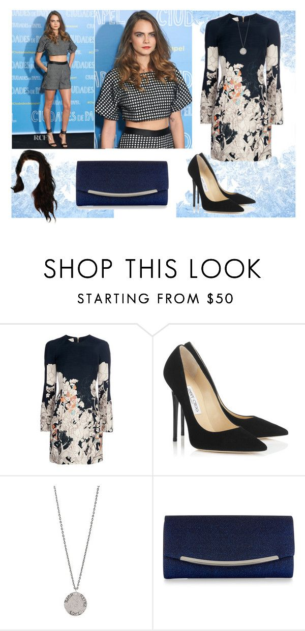 """""""Paper towns premier con Cara"""" by danielama ❤ liked on Polyvore featuring Cacharel, Jimmy Choo, Diana Warner and Monsoon"""