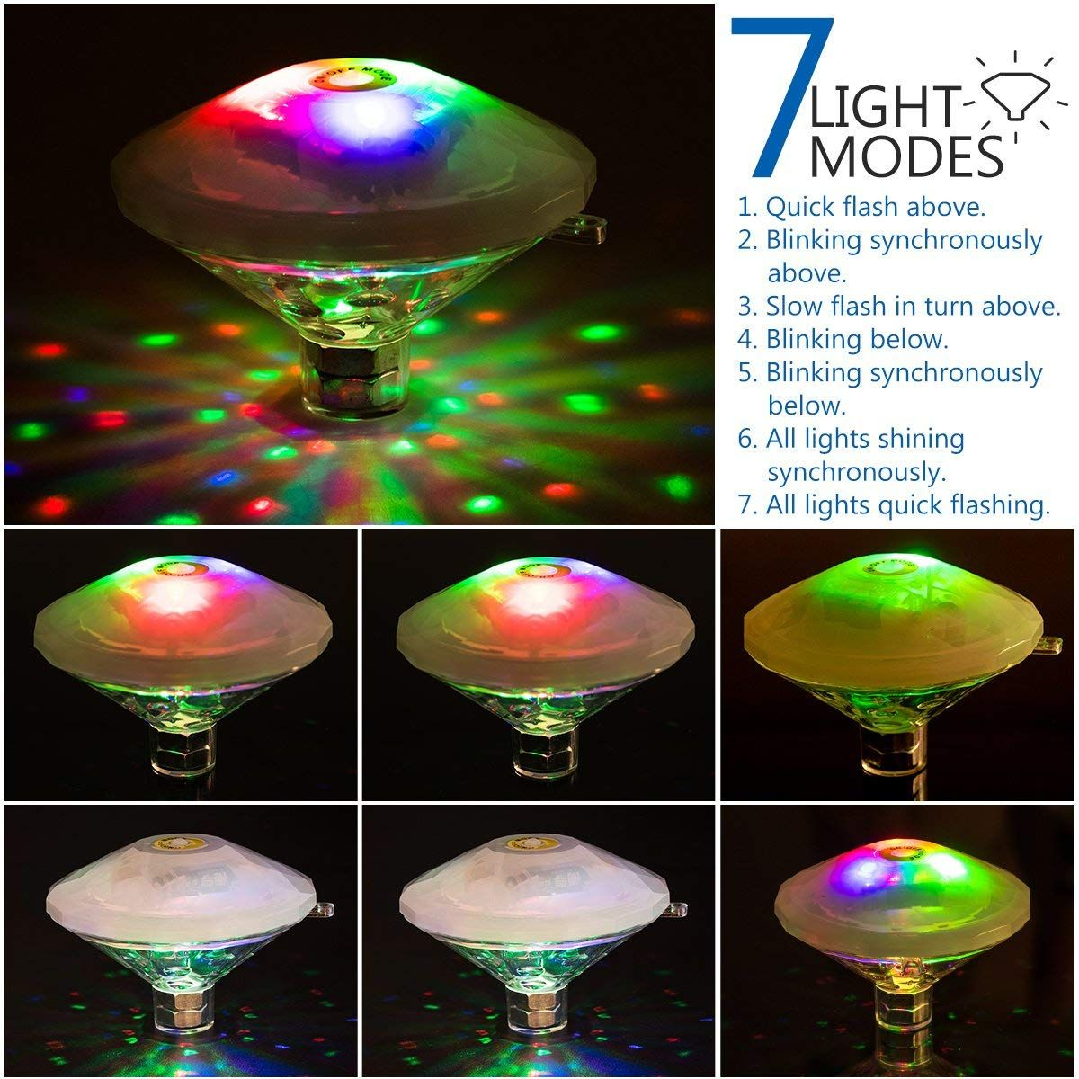 Led Underwater Lights Clever 3 Led Battery Waterproof Pool Pond Lighting Remote Control Submersible Light Led Lamps