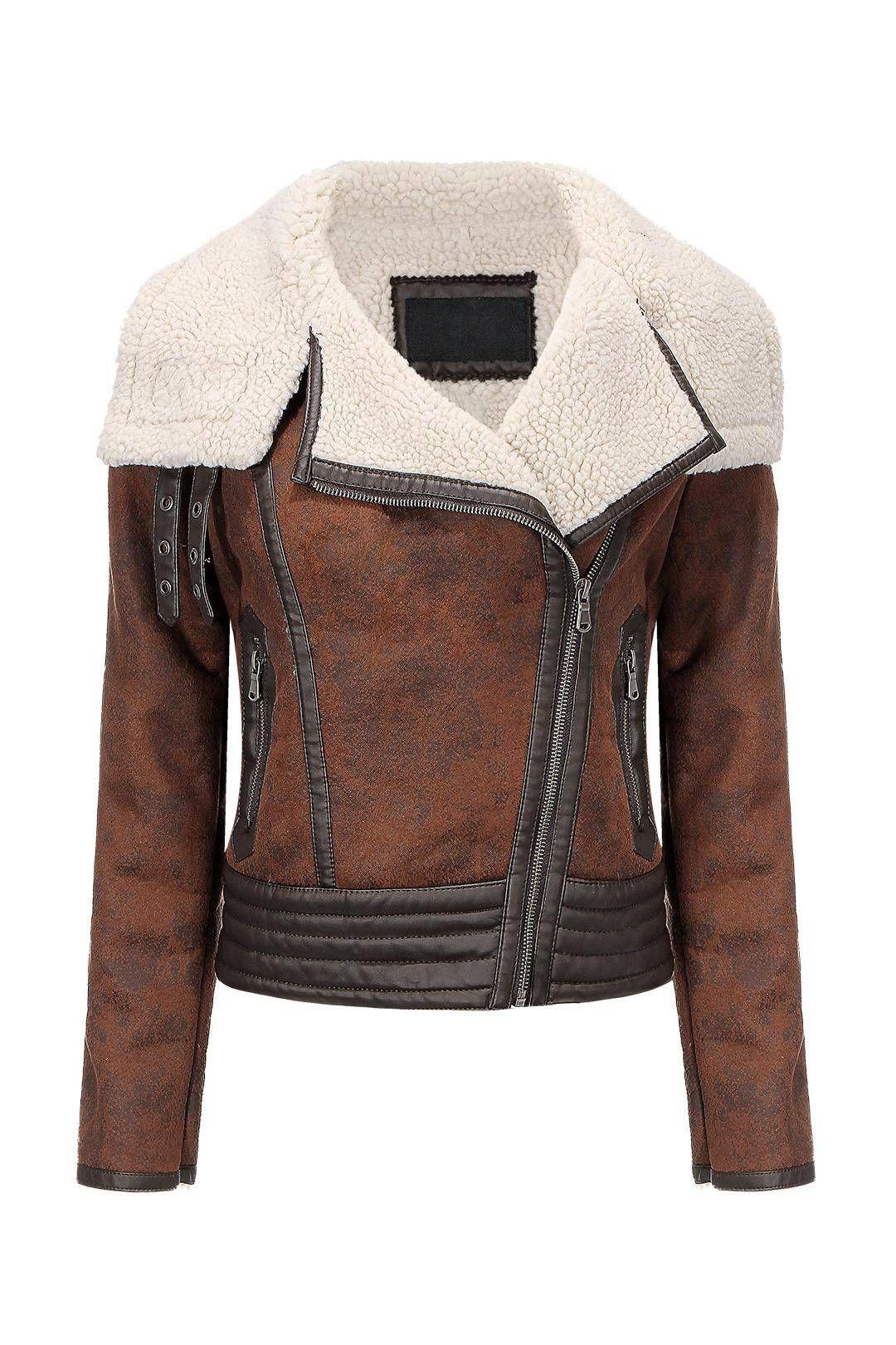 Biker Jacket in Shearling US67.99 Leather jacket