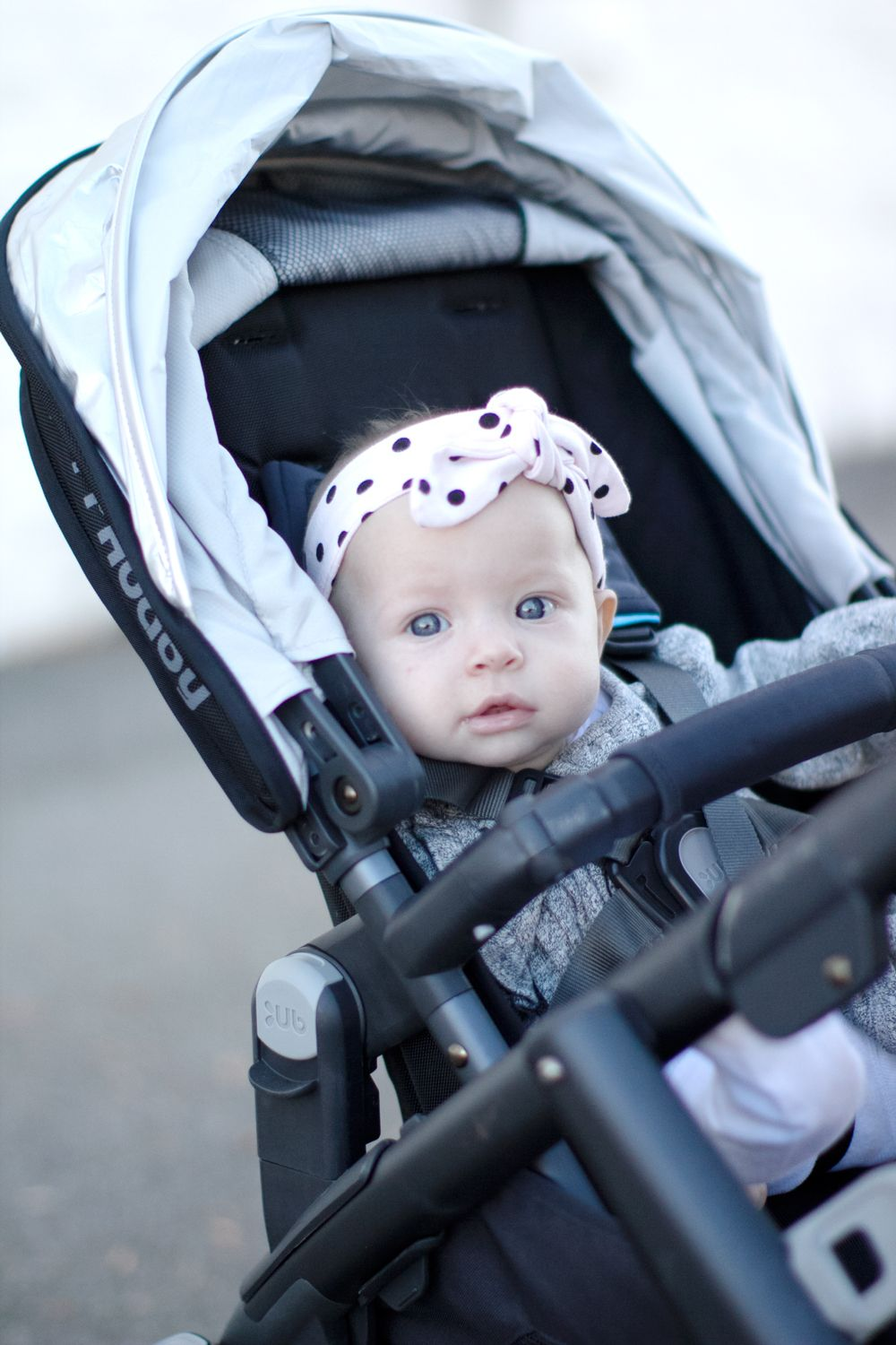 UppaBaby Vista Double Stroller Review + Knit Headband
