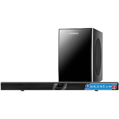 [Super Muffato] Soundbar Mondial SB-02 USB e Bluetooth 100W RMS - R$ 299,90 9x