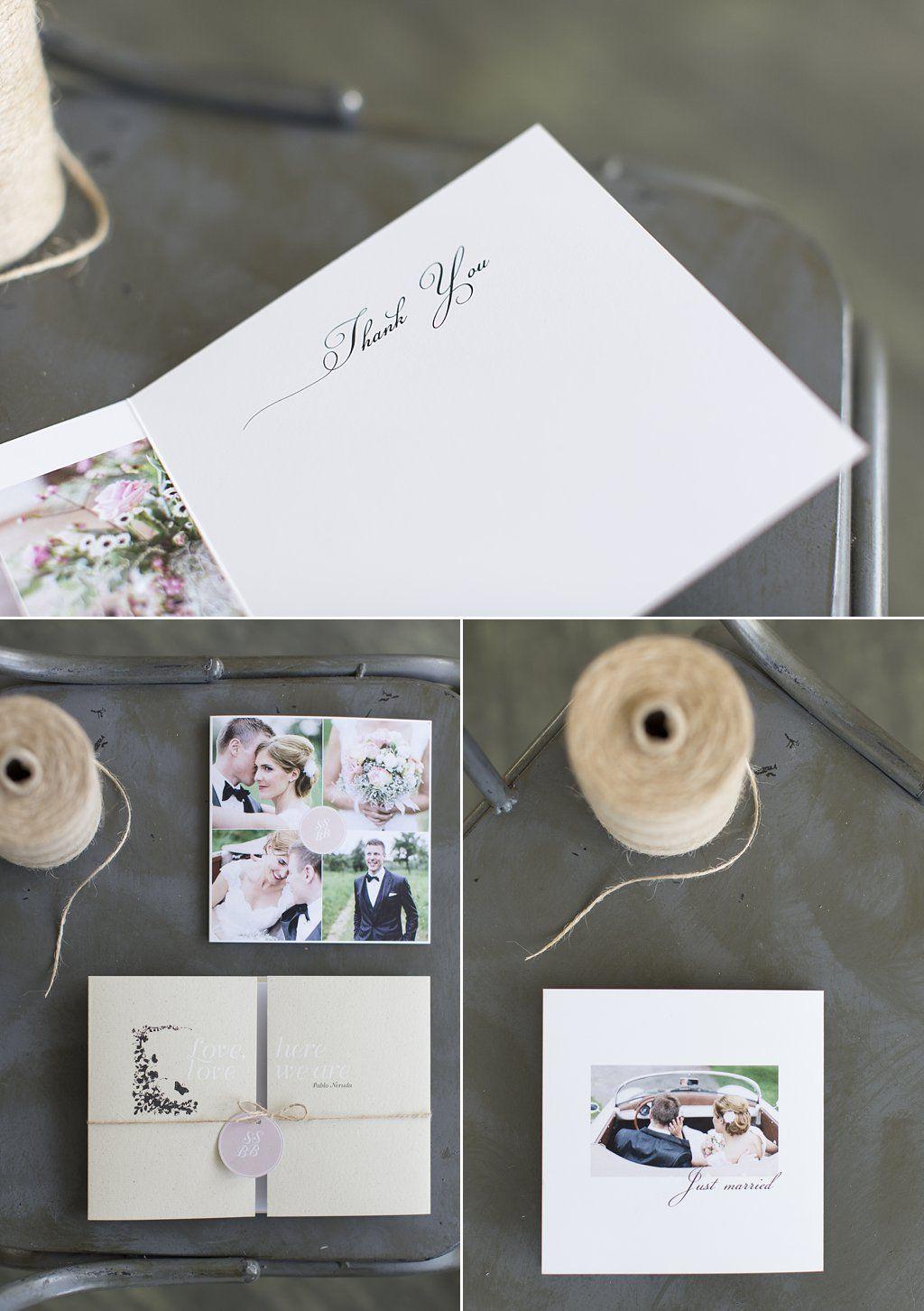 Dankeskarte Danksagung Hochzeit Vintage Schlicht Rosa Von Anmut