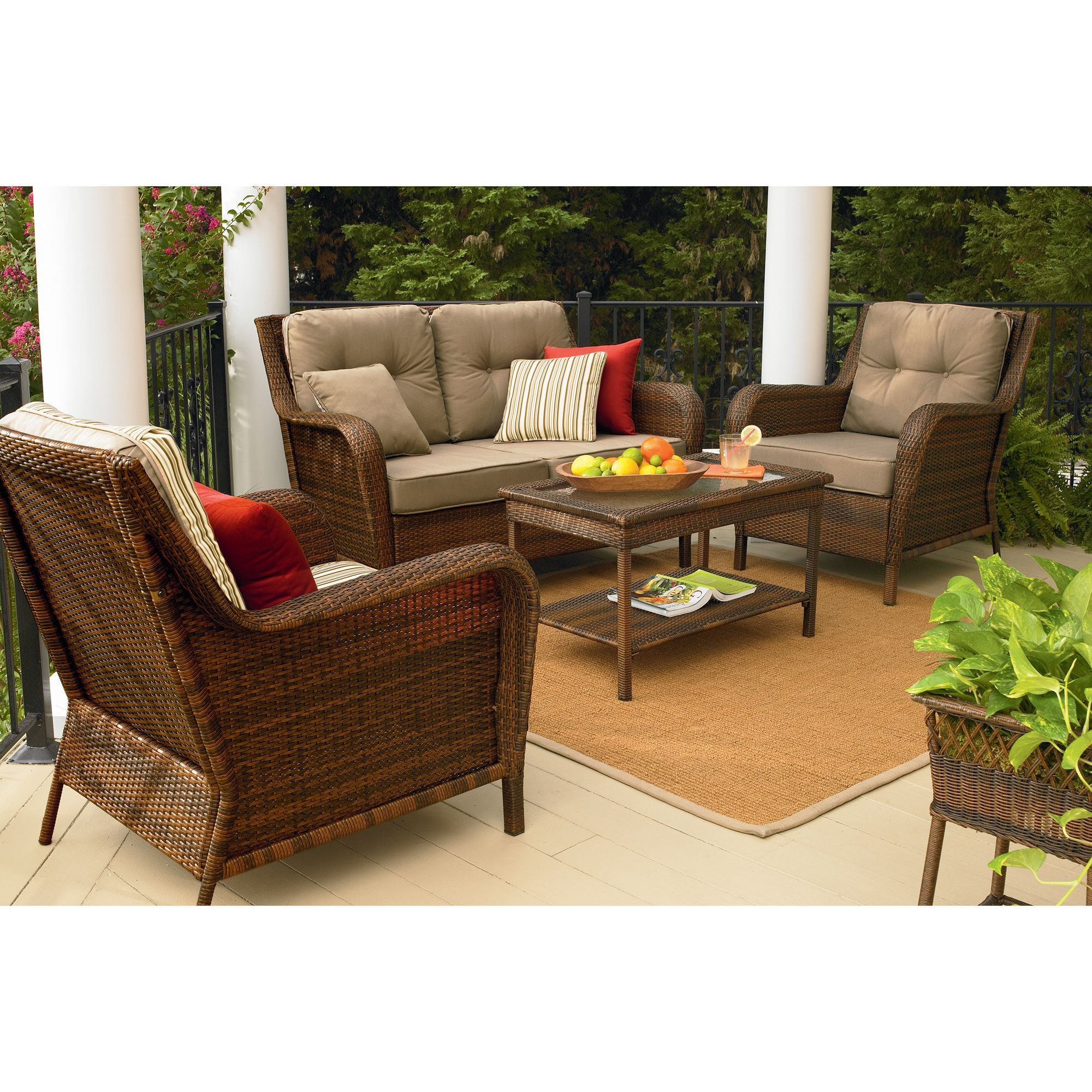Mayfield 4 Pc Deep Seating Set Make Your Outdoors Fun