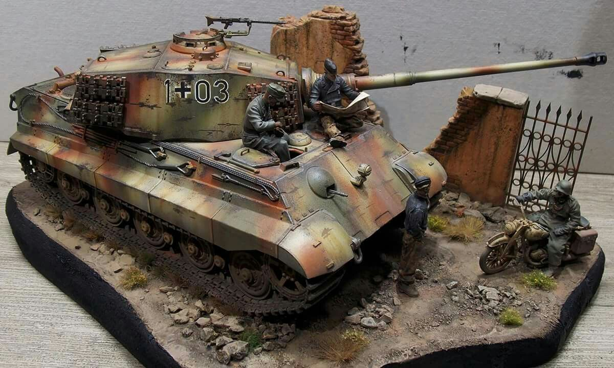 1 35 King Tiger Diorama Unknown Modeller Modelcraft Pinte