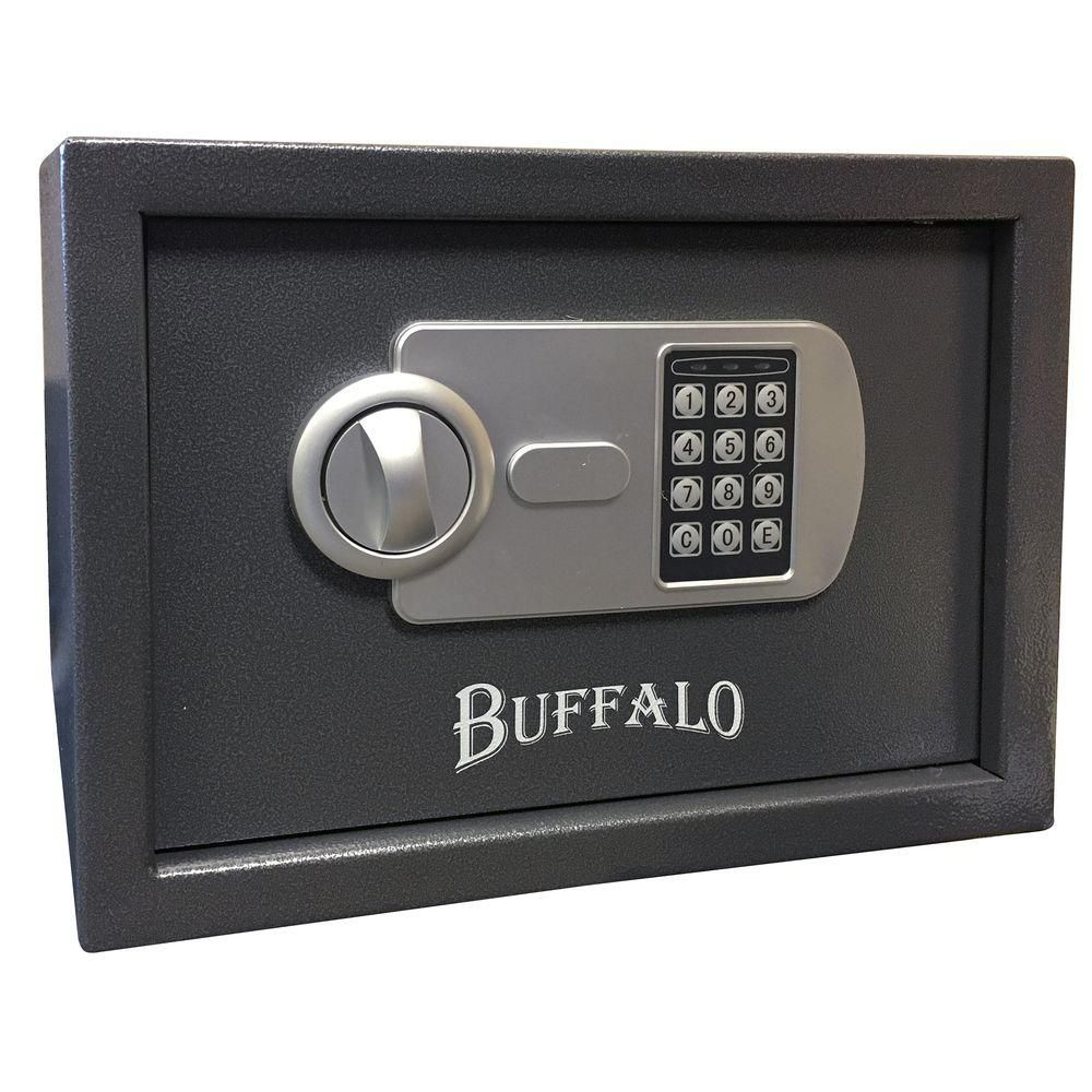 BUFFALO 0.57 cu. ft. Steel Portable Handgun Safe with