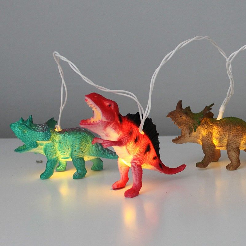 Guirlande lumineuse dinosaures d coration chambre gar on - Guirlande lumineuse chambre garcon ...