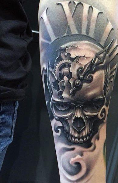 Taschenuhr mit totenkopf tattoo  Vintage Clock Tattoo For Men | Tattoo Inspirations | Pinterest ...
