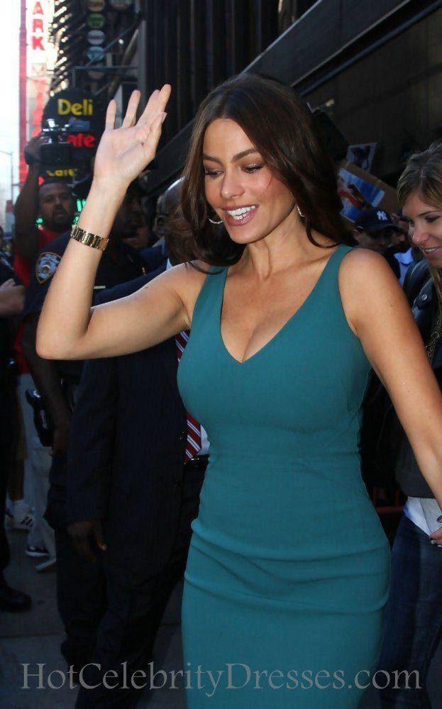 V Neck Turquoise Short Sofia Vergara Pencil Dress Red