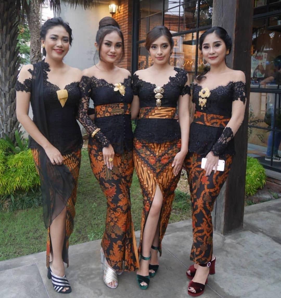 Model Kebaya Modern  Wanita, Pakaian wanita bunga, Pakaian wanita
