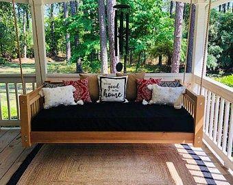 Sunbrella Daybed Custom Cushion Crib Mattress Farmhouse Etsy In 2020 Porch Swing Bed Outdoor Mattress Porch Swing