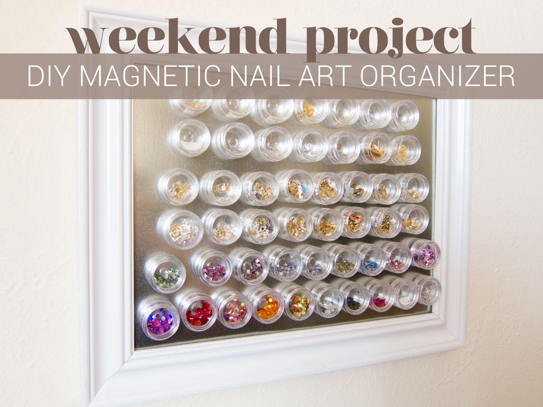 Diy Project Magnetic Nail Art Organizer Re Pin Nail