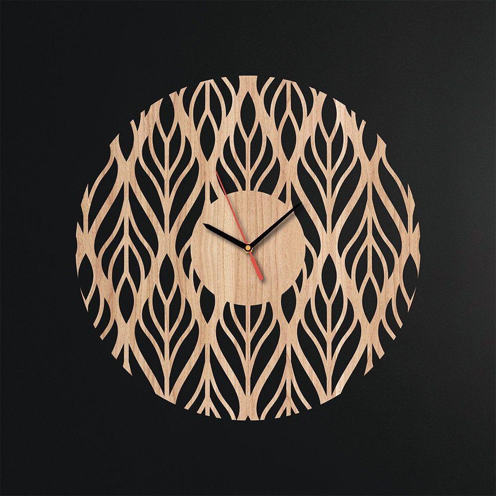 Birthday Gift For Woman Large Wall Clock Modern Art New Year Gift Ply Wood Abstarct Design Handmade Minimal Wood Clock Wooden Wall Clock #XmasGift #PlywoodDecor #WoodenWallDecor #WallClock #ModernWallArt #HandmadeDecor #ChristmasGift #AbstractDesign #MinimalDecor #NewYearGift