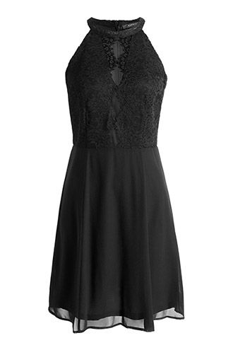 zwarte kanten jurk esprit