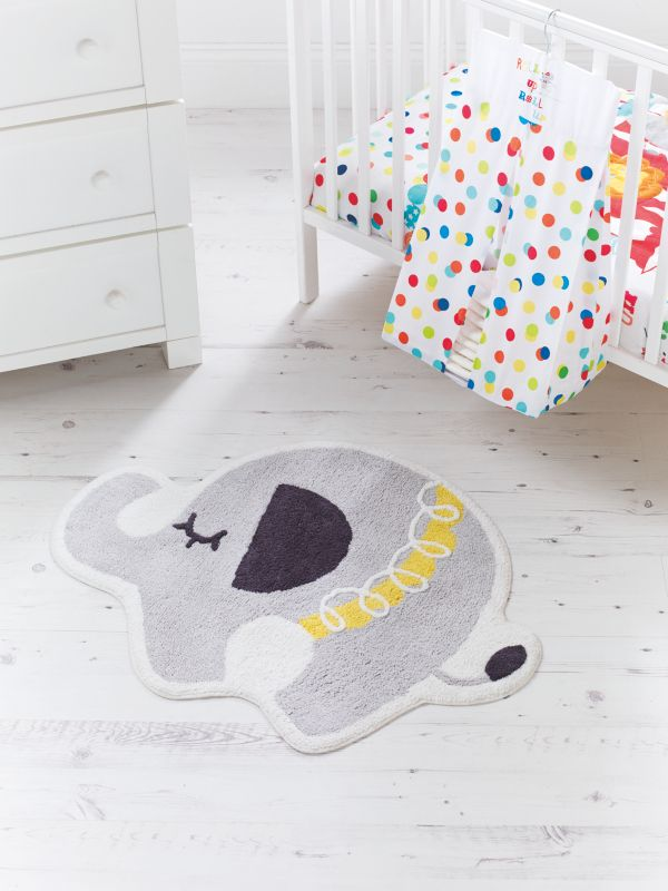 Elephant Rug Grey And Yellow