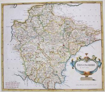 antique maps uk england devon map by robert morden ref 1000518