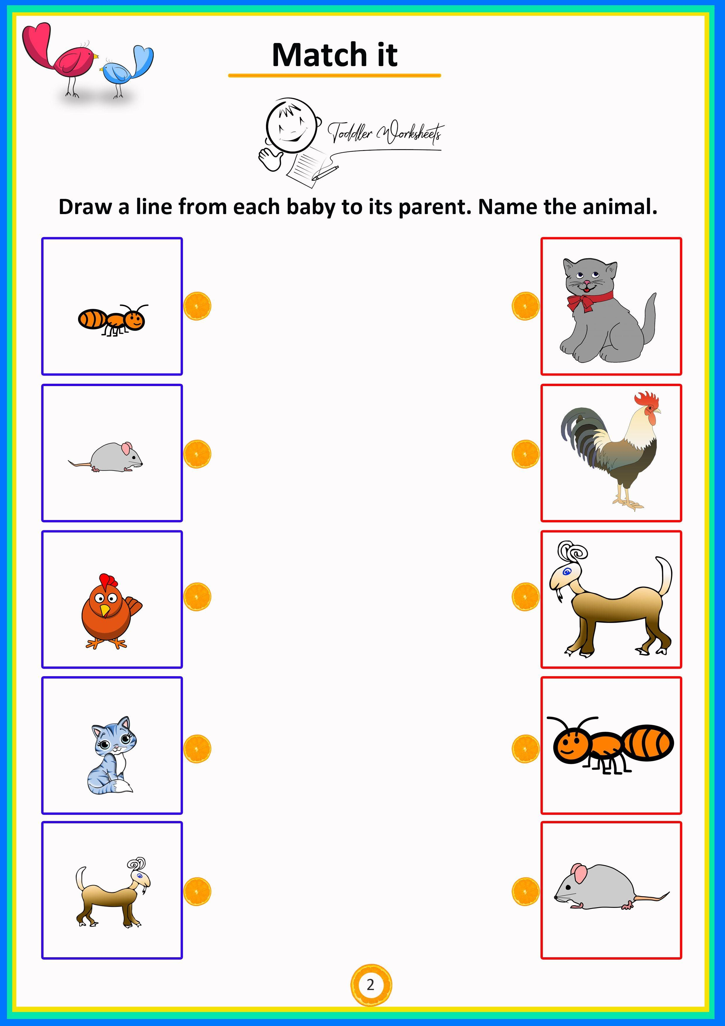 Printable Worksheets Baby Animals In With Images