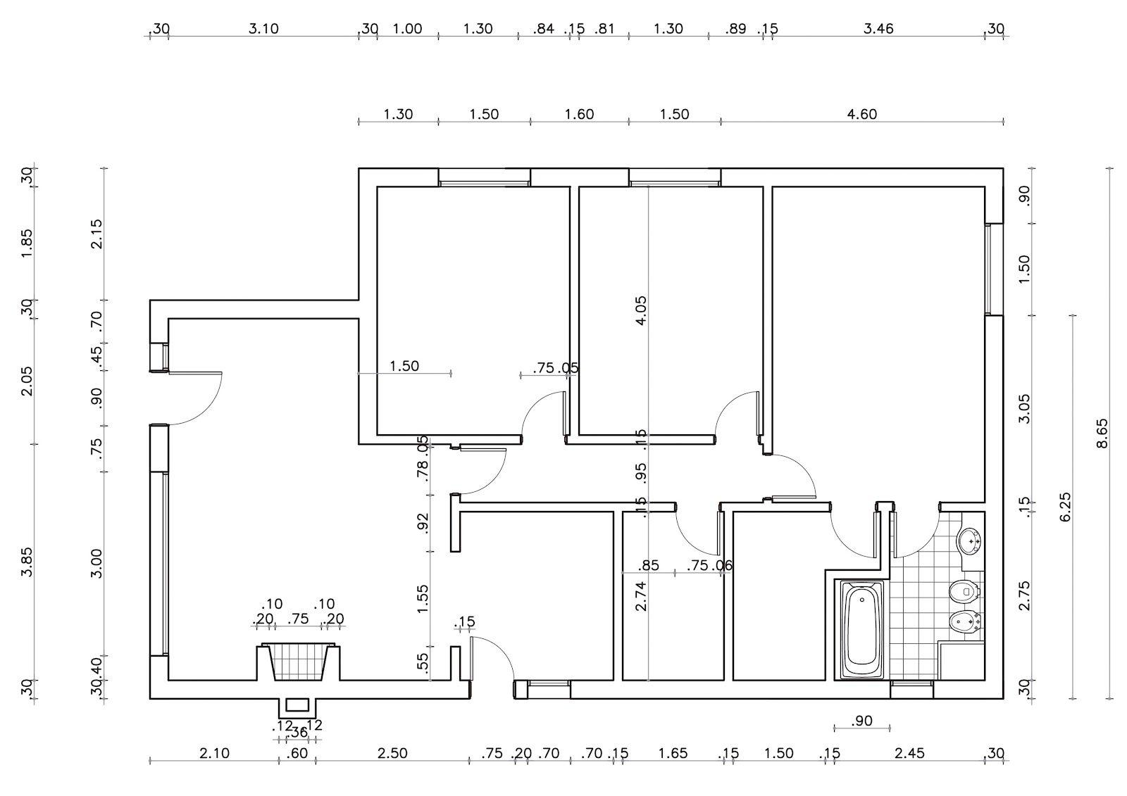 Plano Para Practicar Un Poco Mas Planos Bocetos De Diseño De Interiores Planos De Casas Minimalistas
