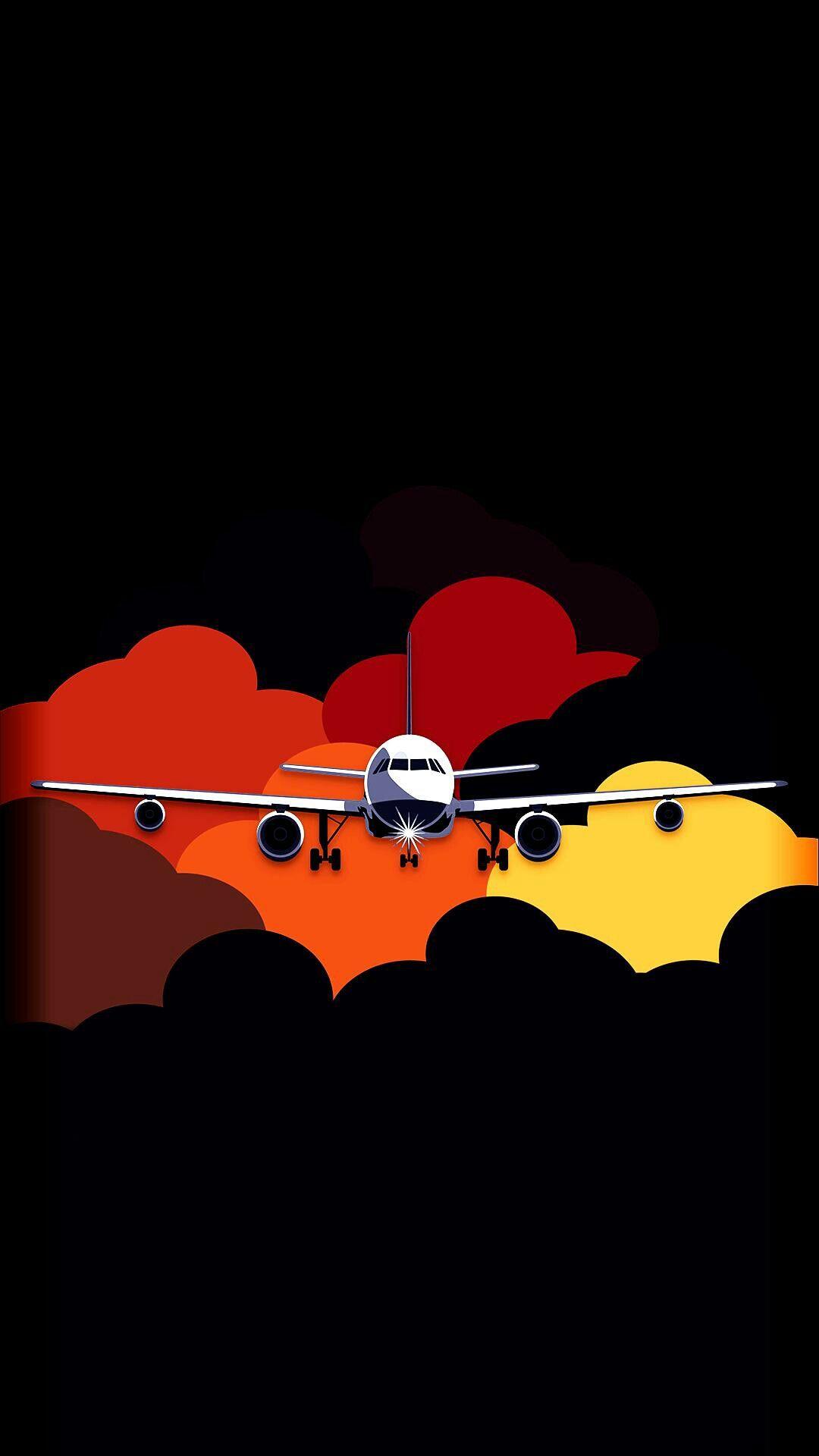 Homescreen And Lockscreen Wallpaper Airplane Airplane Wallpaper Minimal Wallpaper Cellphone Wallpaper