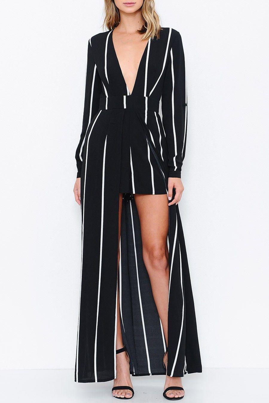 98a9b6246cf Pinstripe Maxi Dress