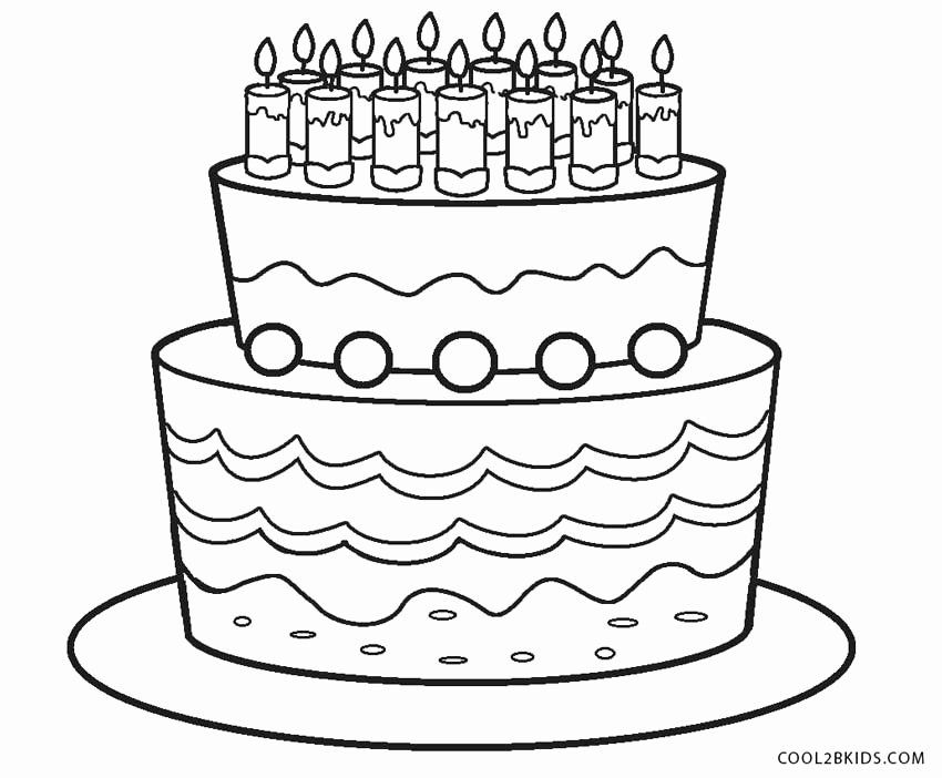 Coloring Page Birthday Cake Inspirational Free Printable Birthday Cake Coloring Happy Birthday Coloring Pages Ice Cream Coloring Pages Birthday Coloring Pages