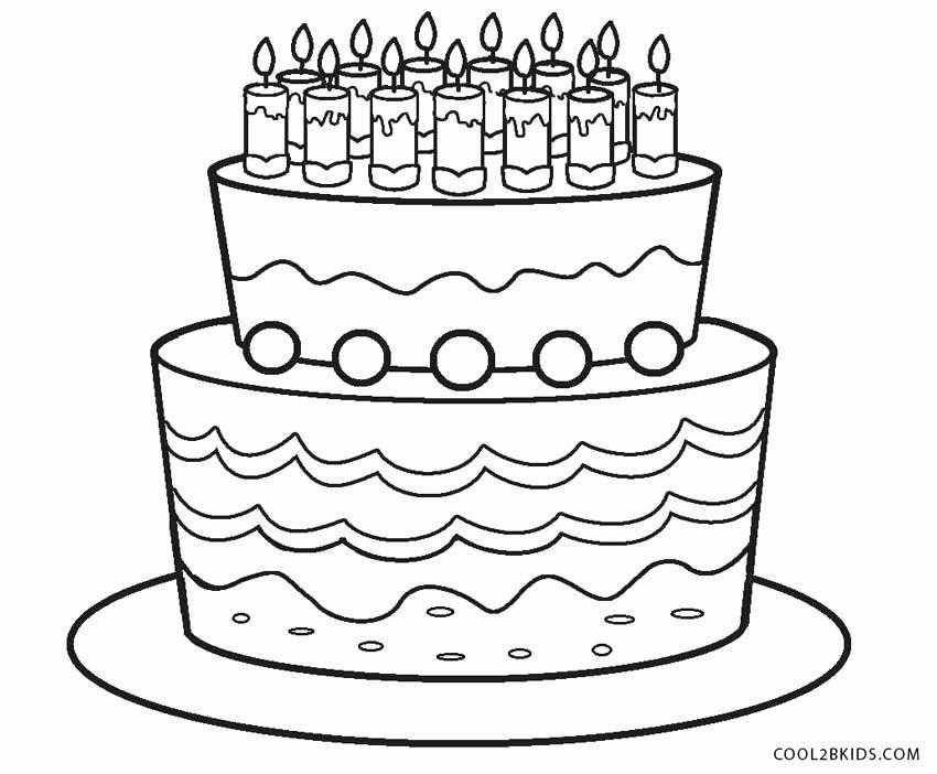 Coloring Page Birthday Cake Luxury Free Printable Birthday Cake