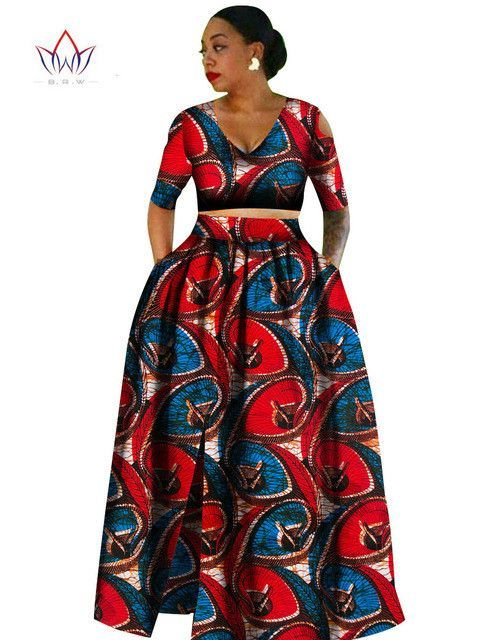 1000 Images About African Print 2 Piece Outfit On: Women African Tradition 2 Piece Plus Size Africa Clothing