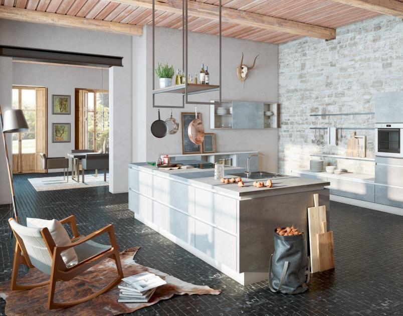 arbeitsplatten f r die k che aus holz naturstein und keramik arbeitsplatte aus oxidbeton von. Black Bedroom Furniture Sets. Home Design Ideas