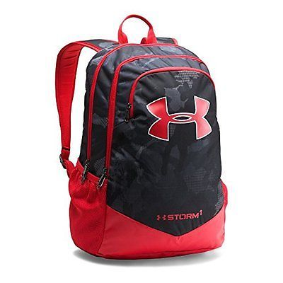 Under Armour Boys Storm Scrimmage Backpack Black Red One Size Under Armour Backpack Black Backpack Backpacks