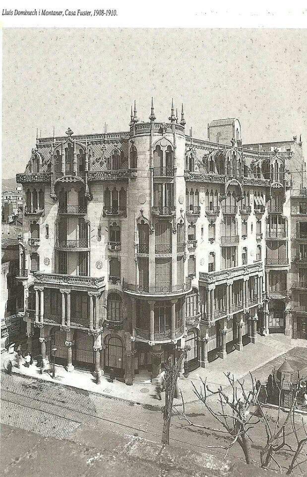Casa Fuster Lluis Domenech I Montaner 1908 1910 Fotos De Barcelona Barcelona Ciudad Barcelona