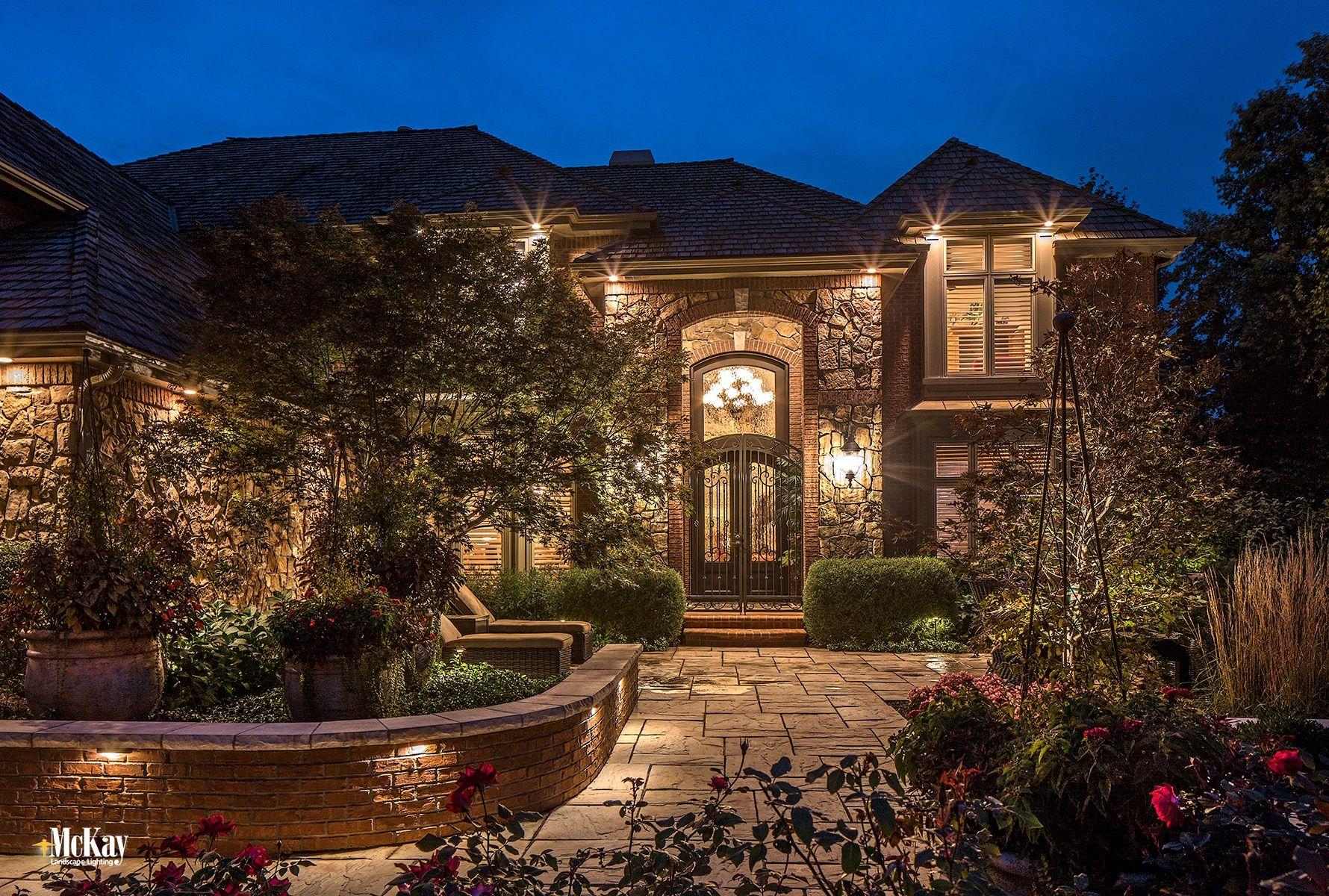 An Omaha Deck Patio Gets A Landscape Lighting Refresh Garden Path Lighting Landscape Lighting Outdoor Lighting