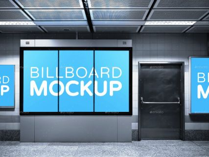 Subway Advertising Mock Ups Templates Premium Download Template Periklanan Ups