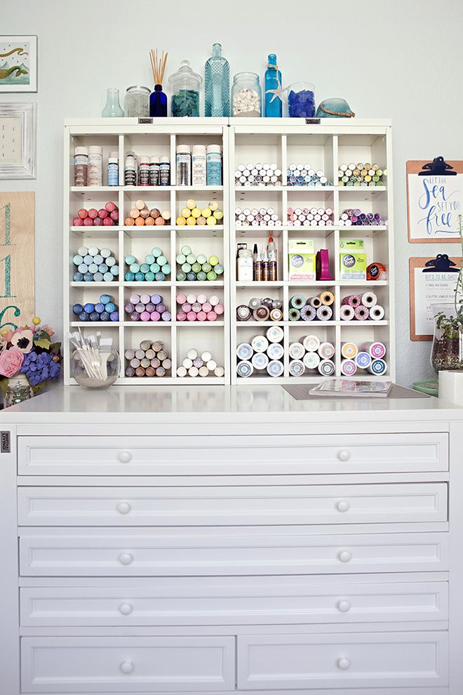 Something Turquoise Craft Room Blog Office Open Paint And Glitter Display