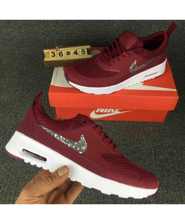 Nike Air Max Thea SE Burgundy with Swarovski Crystals