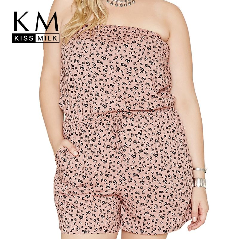 Kissmilk Plus Size Sexy Big Size Strapless Playsuit Large Size ...