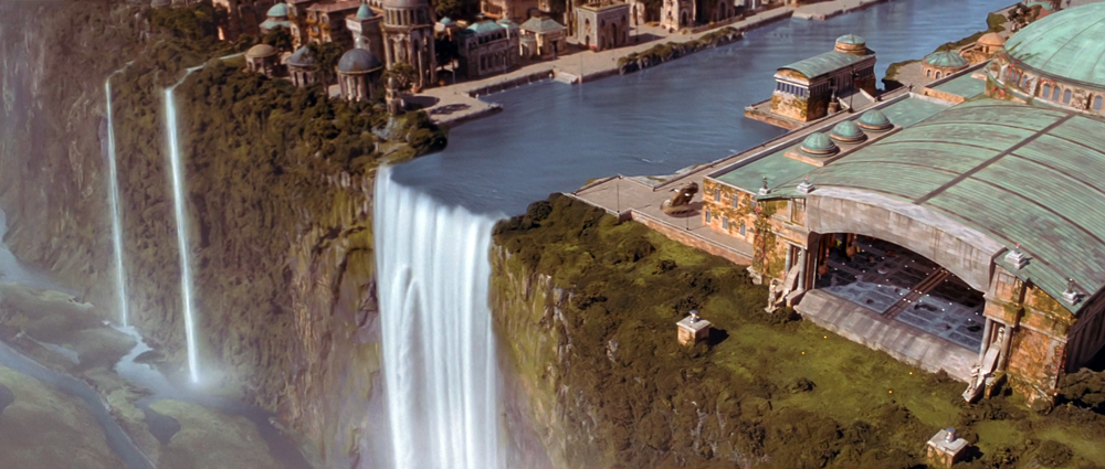irdugo Plunge was one the waterfalls making the end of the Solleu River in the Naboo's capital city of Theed. It was the largest waterfall o...