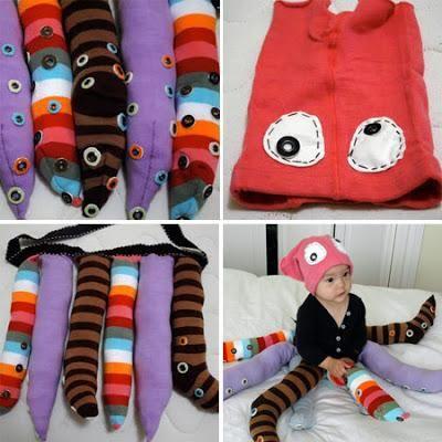 Como Hacer Un Disfraz De Pulpo Para Carnaval En Casa Y Sin Gastar Dinero Paperblog Disfraz De Pulpo Disfraces Caseros Para Niños Disfraces Caseros
