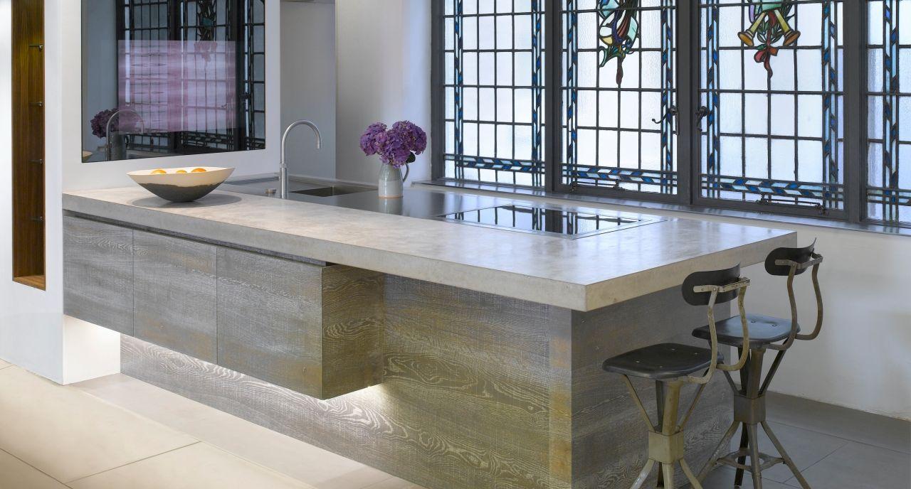 Wonderful Kitchen : Admirable Kitchen Countertops Ideas Gray Color Concrete .