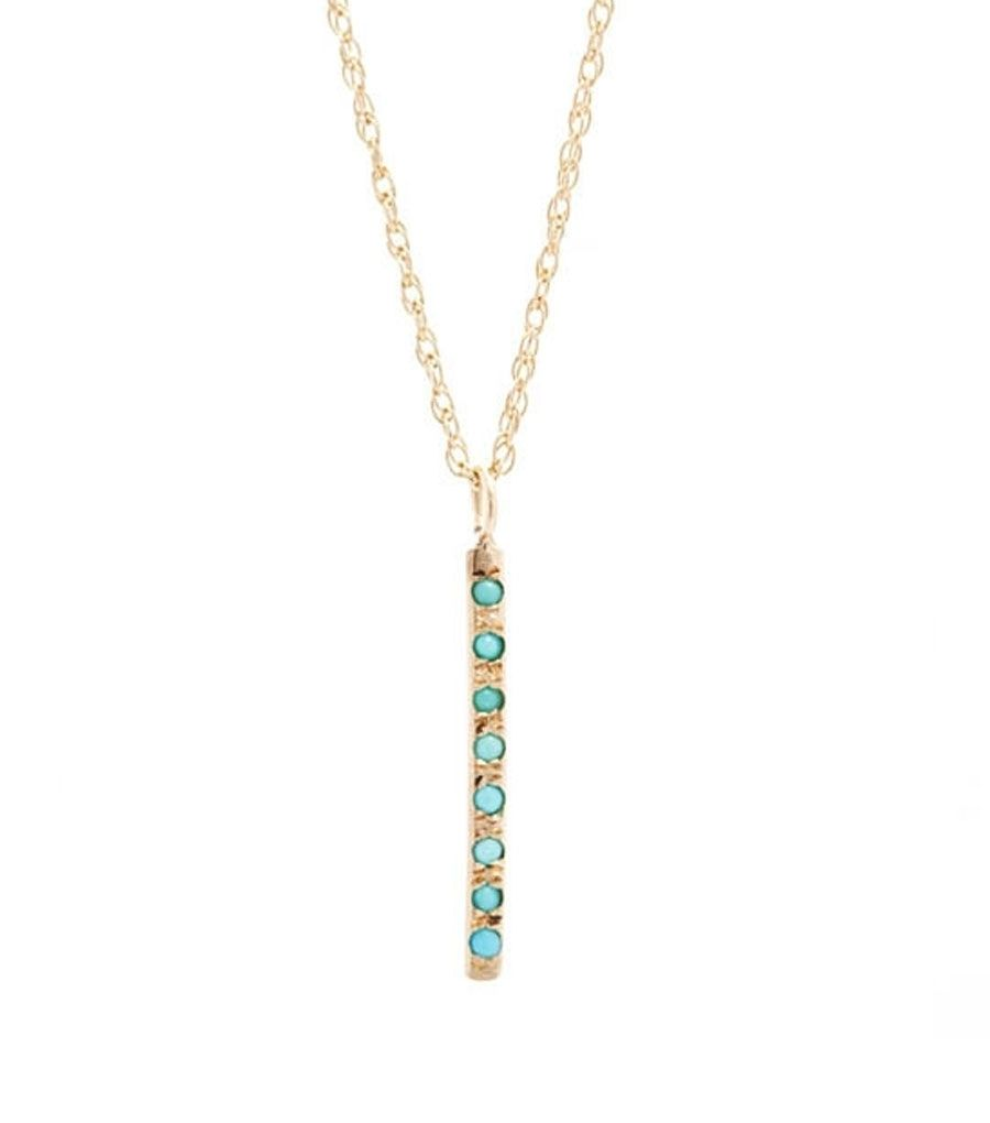 catbird::WHAT'S NEW: jewelry::Sunshine Necklace, Gold w/Turquoise