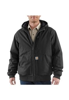 Carhartt Mens Quick Duck Woodward Active Black Jacket | Buy Now at camouflage.ca