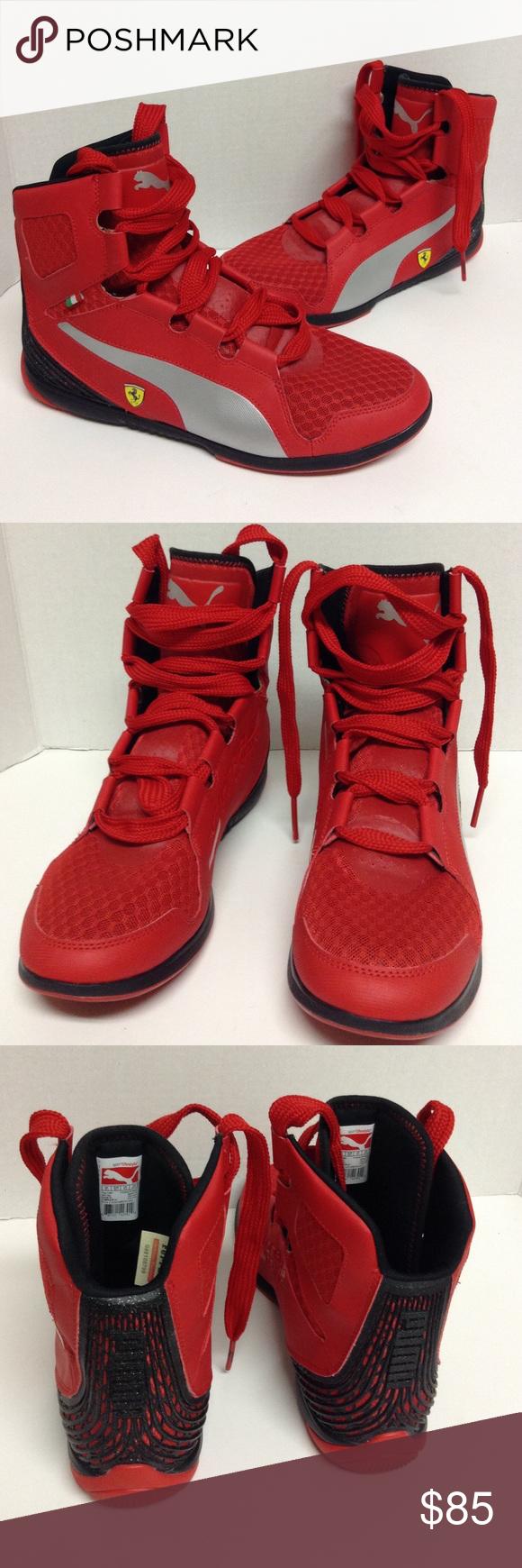 PUMA VALOROSSO MID SF WEBCAGE FERRARI SNEAKERS Ferrari Valorosso WebCage  Mid Sneakers Sz9 1 2 ef2ab849e