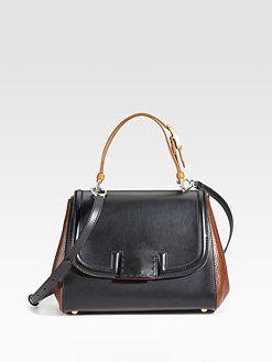 Fendi - Silvana Colorblock Top Handle Bag