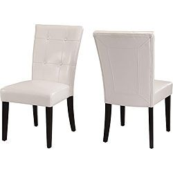 Merveilleux Button Tufted White Parsons Chair (Set Of 2)   Overstock™ Shopping   Great  Deals On Domusindo Dining Chairs