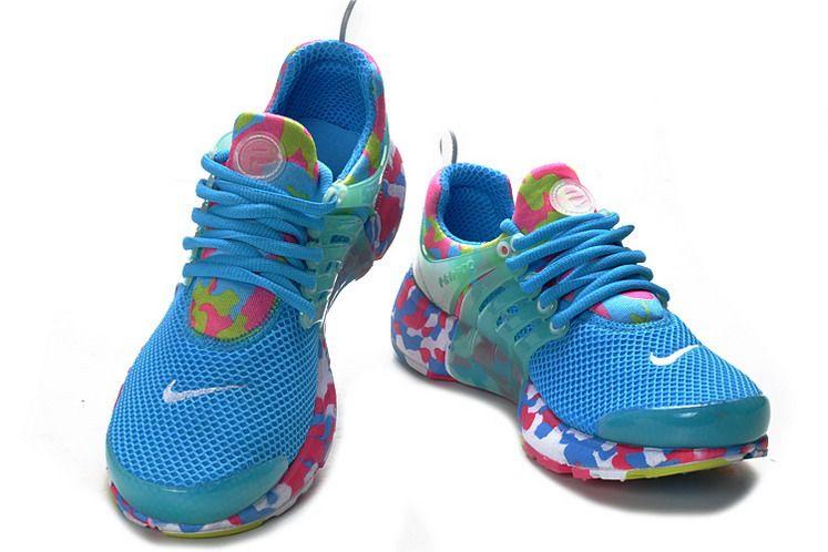 Nike Air Presto Camo Womens Running Shoes Sky Blue China Supply MLF104704